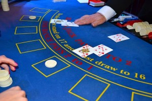 counting cards in a blackjack game