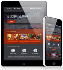 Cherry Jackpot casino on mobile devices