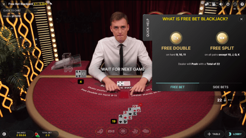 Live Dealer Free Bet Blackjack