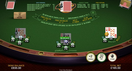 Free Chip Blackjack Guide 2021 Rules And Side Bets Explained