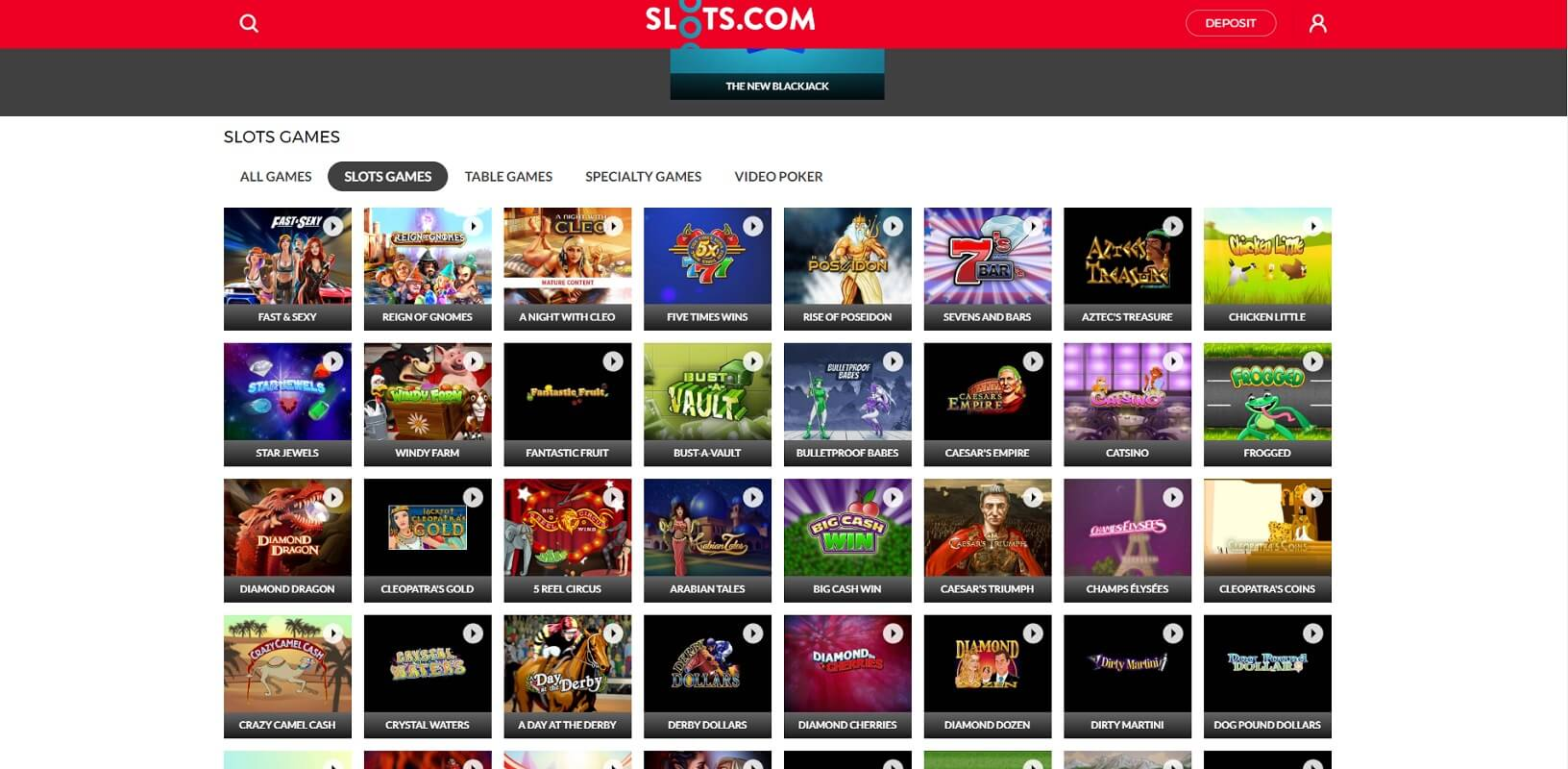 Slot games at Slots.com online casino