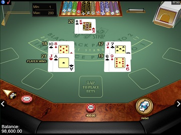 an online game of vegas strip gold series blackjack