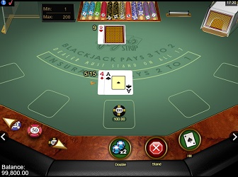 Online version of Vegas strip gold series blackjack
